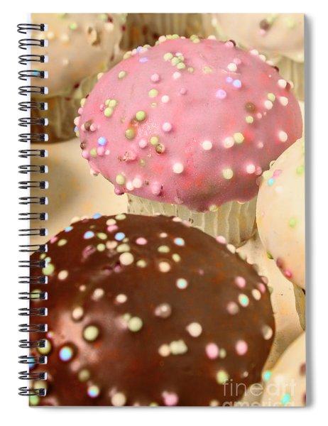 Vintage Bakery Scene Spiral Notebook