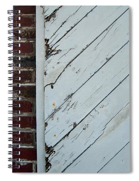 Vintage Barn Door And Red Brick Spiral Notebook