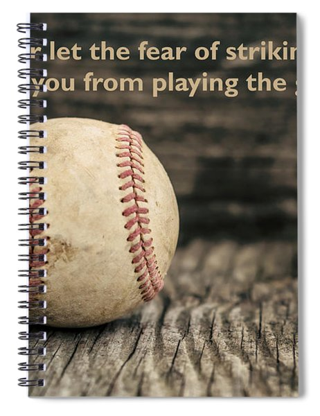 Vintage Baseball Babe Ruth Quote Spiral Notebook