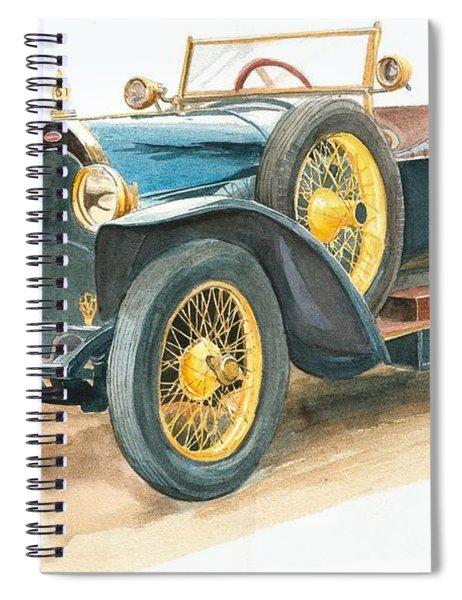 Vintage Blue Bugatti Classic Car Spiral Notebook