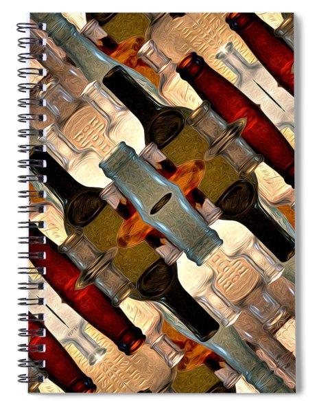 Vintage Bottles Abstract Spiral Notebook