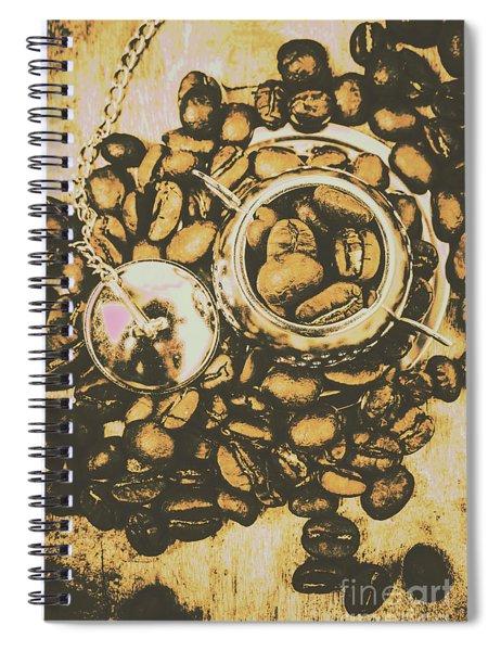 Vintage Cafe Artwork Spiral Notebook