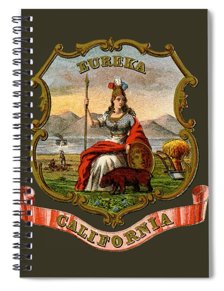 Vintage California Coat Of Arms Spiral Notebook