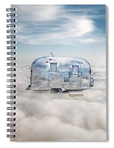 Vintage Camping Trailer In The Clouds Spiral Notebook