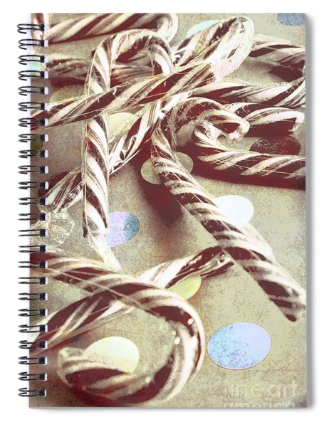 Vintage Candy Canes Spiral Notebook