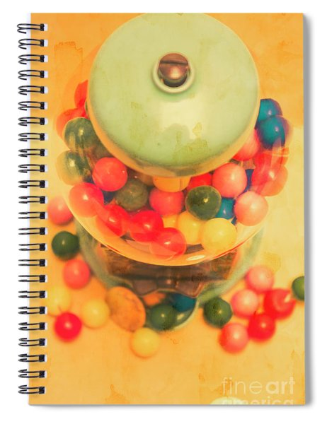 Vintage Candy Machine Spiral Notebook