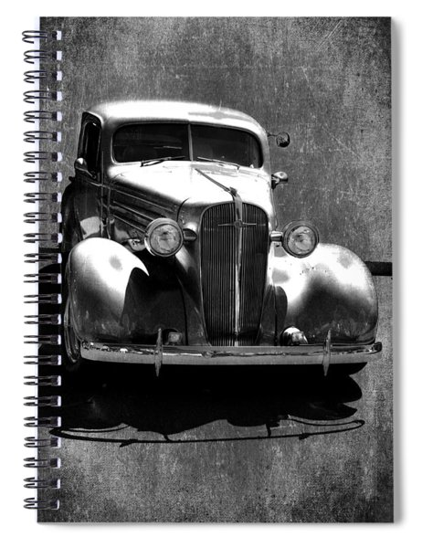 Vintage Car Art 0443 Bw Spiral Notebook
