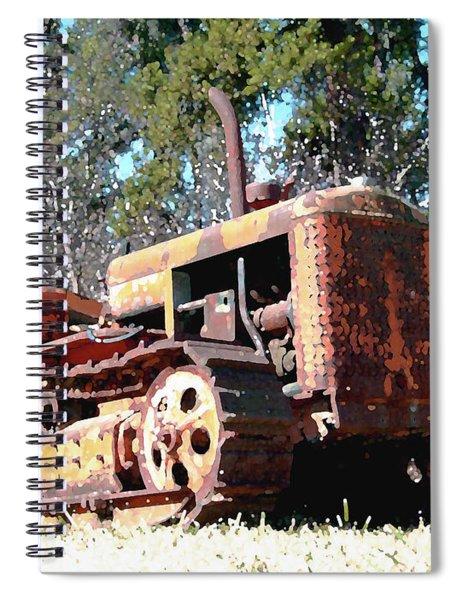 Vintage Caterpillar Spiral Notebook