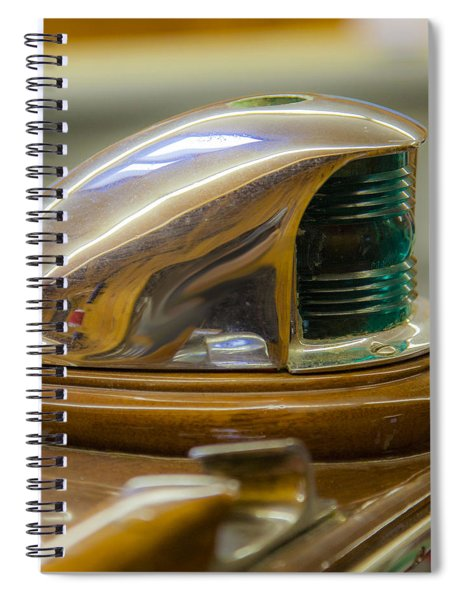 Vintage Century Boat Bow Light Spiral Notebook