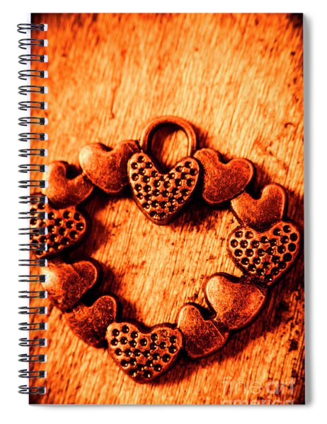 Vintage Circle Of Hearts Spiral Notebook