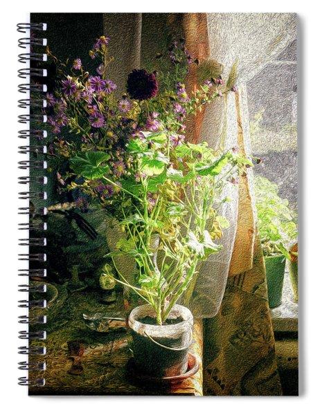 Vintage Classic Flower Still Life Spiral Notebook