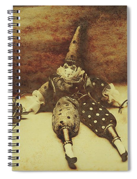 Vintage Clown Doll. Old Parties Spiral Notebook