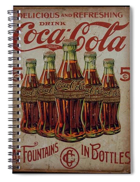 vintage Coca Cola sign Spiral Notebook
