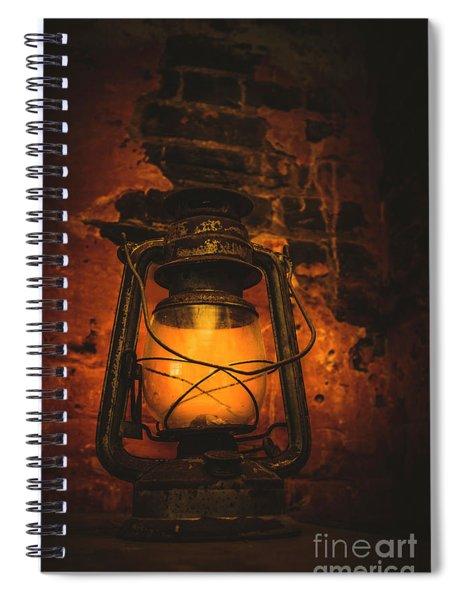 Vintage Colonial Lantern Spiral Notebook