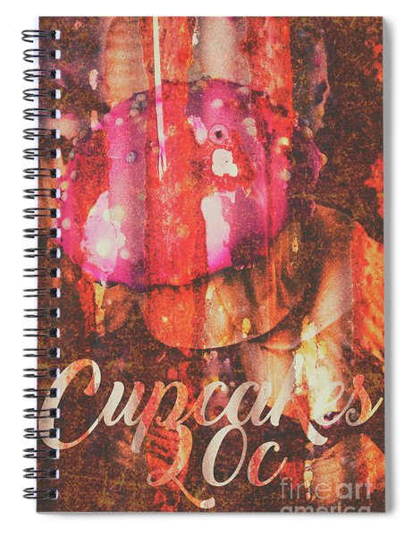 Vintage Cupcake Tin Sign Spiral Notebook