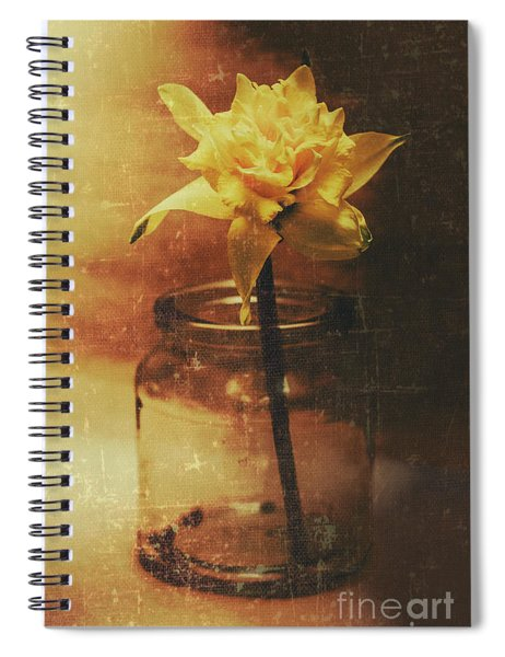 Vintage Daffodil Flower Art Spiral Notebook