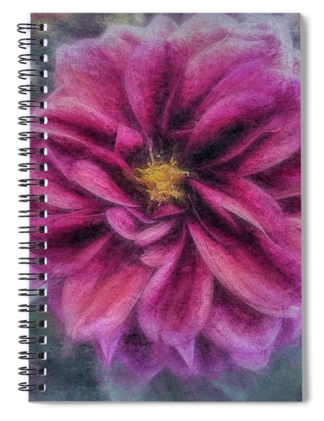 Spiral Notebook featuring the photograph Vintage Dahlia by Andrea Platt