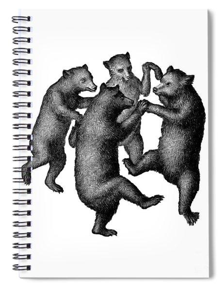 Vintage Dancing Bears Spiral Notebook