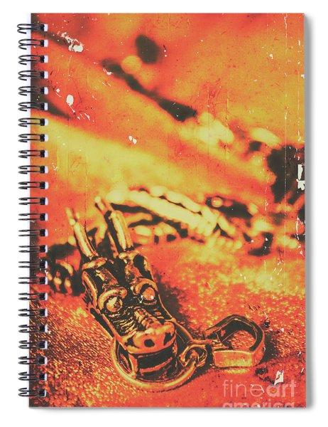 Vintage Dragon Charm Spiral Notebook