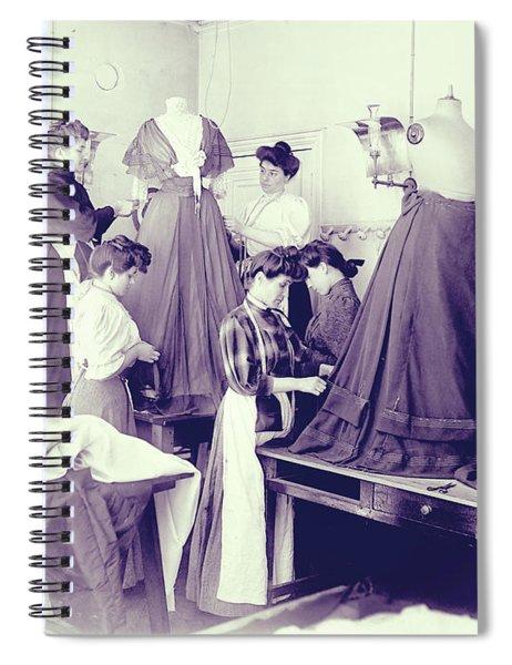 Vintage Dressmakers Spiral Notebook