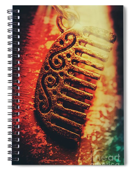 Vintage Egyptian Gold Comb Spiral Notebook