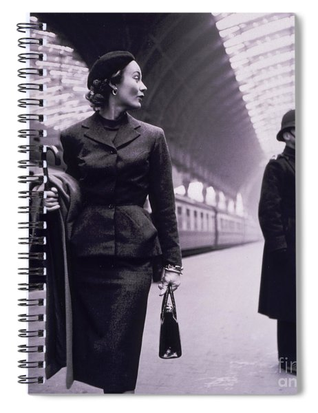 Vintage Fashion Elegant Lady Spiral Notebook
