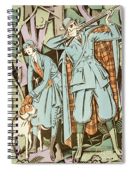 Vintage Fashion Plate Twenties Sporting Outfits Spiral Notebook