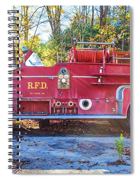 Vintage Fire Truck South Weare New Hampshire Spiral Notebook