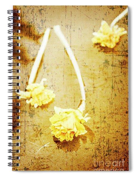 Vintage Floating River Flowers Spiral Notebook