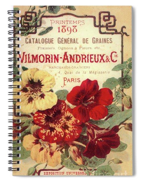 Vintage Flower Seed Cover Paris Rare Spiral Notebook
