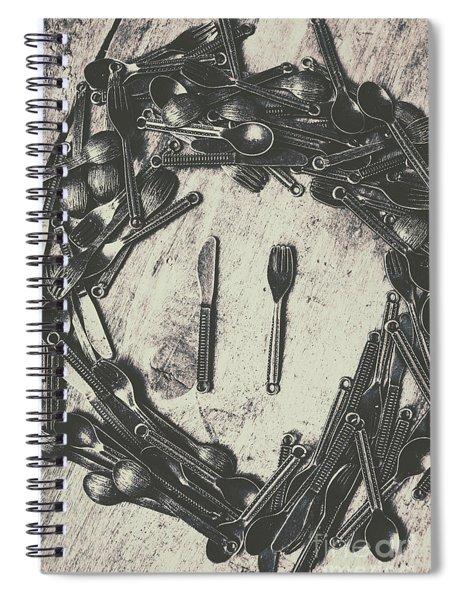 Vintage Food Service Spiral Notebook