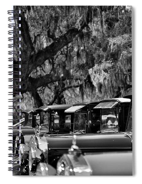 Vintage Ford Line-up At Magnolia Plantation - Charleston Sc Spiral Notebook