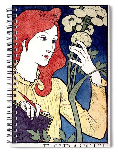Vintage French Advertising Art Nouveau Salon Des Cent Spiral Notebook