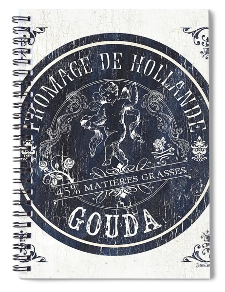 Vintage French Cheese Label 1 Spiral Notebook