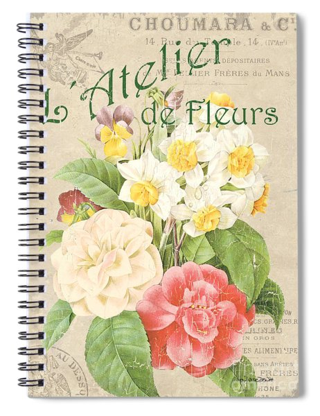 Vintage French Flower Shop 1 Spiral Notebook
