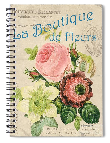 Vintage French Flower Shop 2 Spiral Notebook