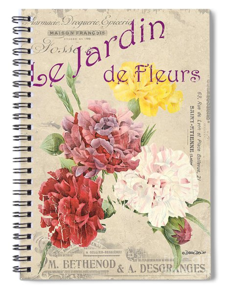 Vintage French Flower Shop 4 Spiral Notebook