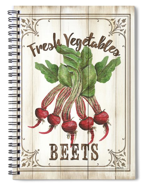 Vintage Fresh Vegetables 1 Spiral Notebook