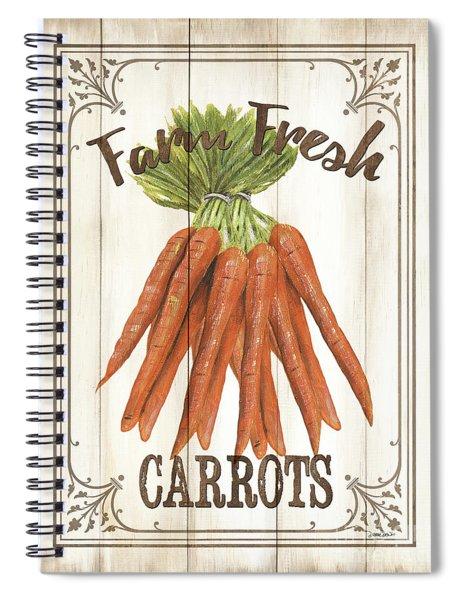Vintage Fresh Vegetables 3 Spiral Notebook