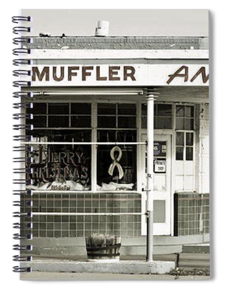 Vintage Gas Station Spiral Notebook