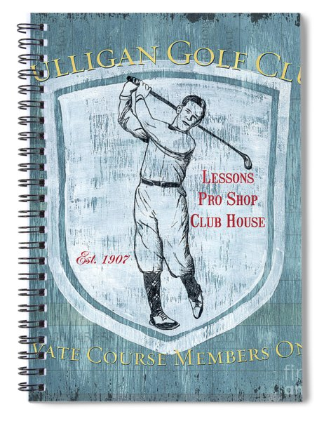 Vintage Golf Blue 1 Spiral Notebook