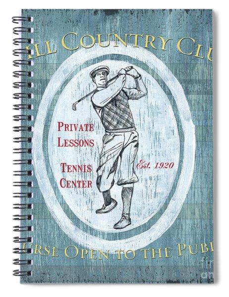 Vintage Golf Blue 2 Spiral Notebook