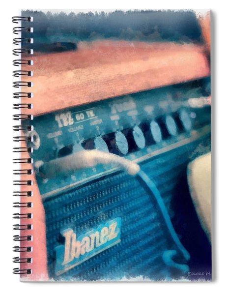 Vintage Guitar Amp Watercolor Spiral Notebook
