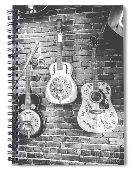 Vintage Guitar Trio In Black And White Spiral Notebook
