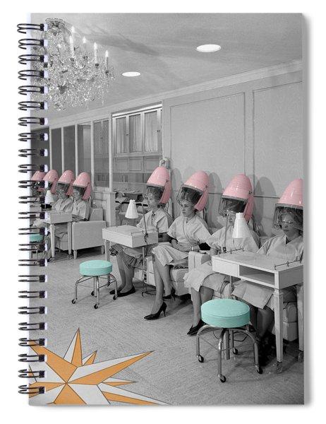 Vintage Hair Salon Spiral Notebook