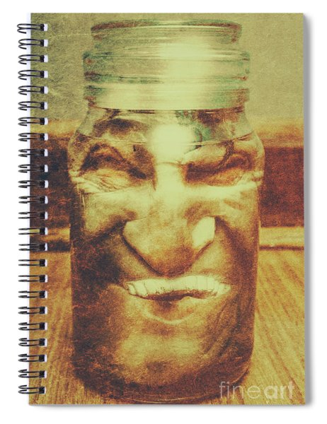 Vintage Halloween Horror Jar Spiral Notebook
