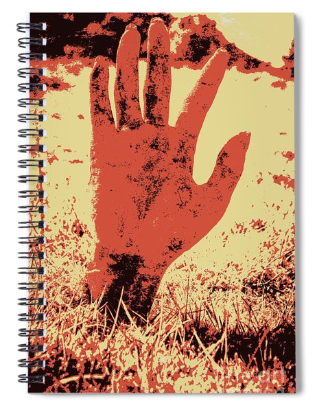 Vintage Horror Poster Art  Spiral Notebook