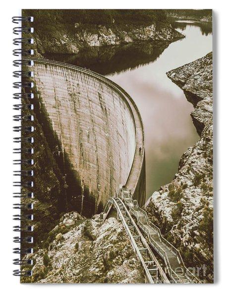 Vintage Hydro-electric Dam Spiral Notebook