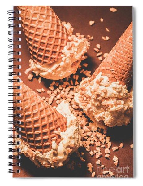 Vintage Ice Cream Shop Art Spiral Notebook