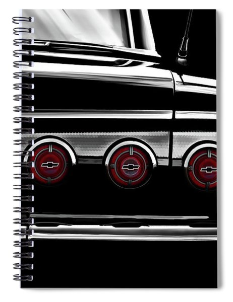 Vintage Impala Black And White Spiral Notebook